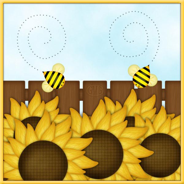 Bienchen am Zaun